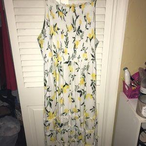 47c31c9737fc torrid Dresses   White Lemon Smocked Midi Dress   Poshmark